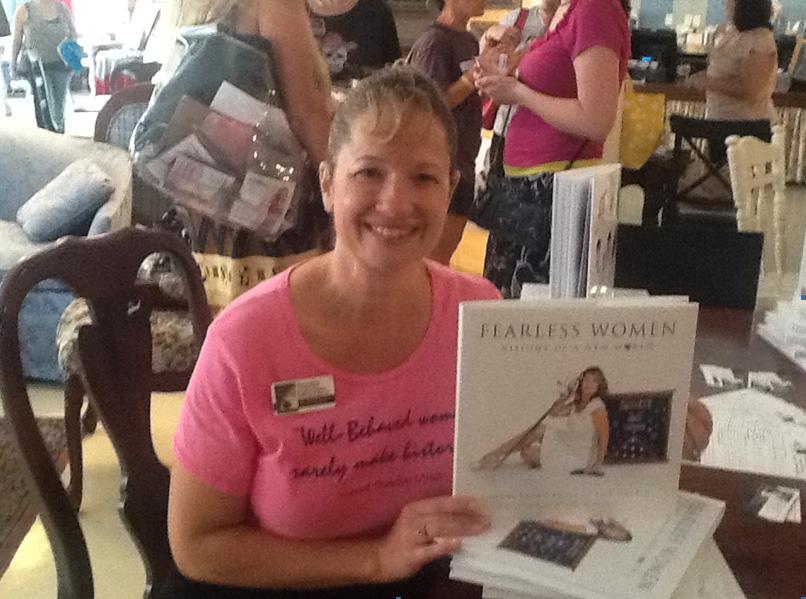 Karen Mertes at her first book signing
