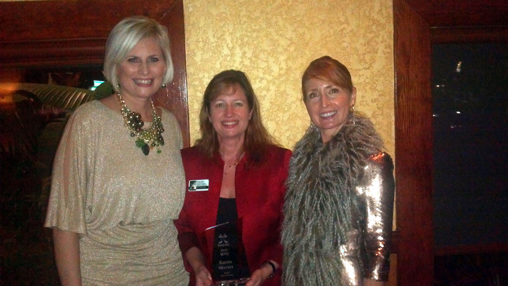 Karen Mertes receives Most Valuable Chic Award
